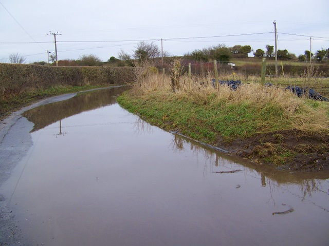 Localised flooding, Gussage St Andrew