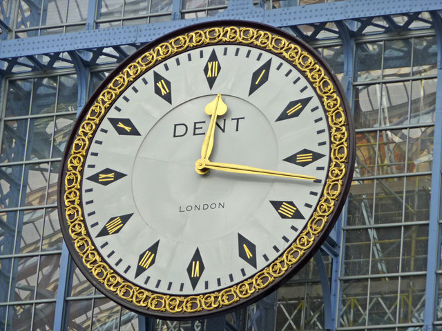 Clock, St Pancras Station, London