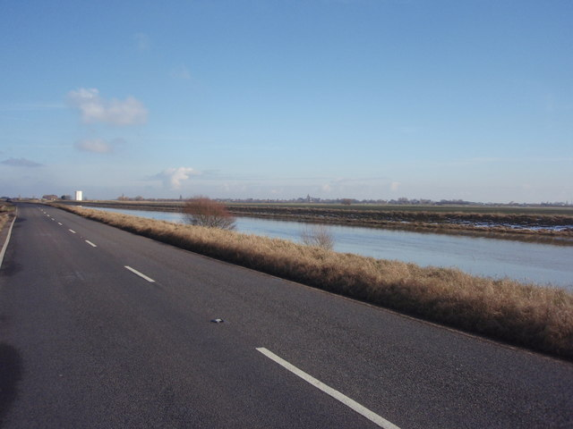 Crowland Road and River Welland
