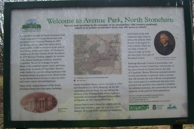 Avenue Park, North Stoneham