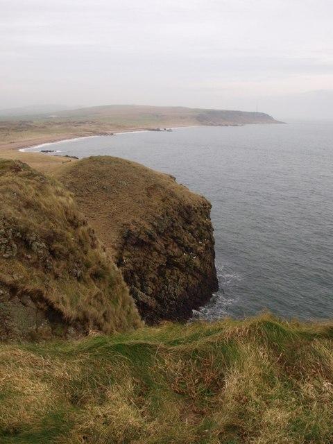Cliffs near Dunaverty Rock