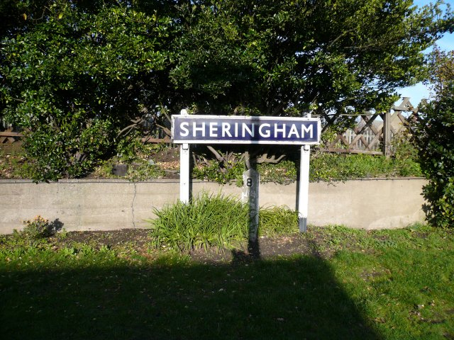 Sheringham Railway Station Sign