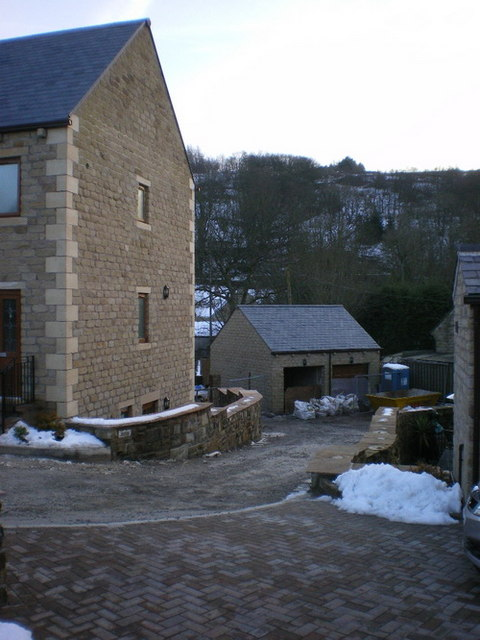New houses opposite the Woolpack Inn