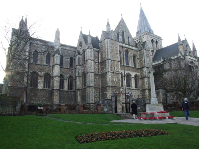 Rochester Cathedral and war memorial