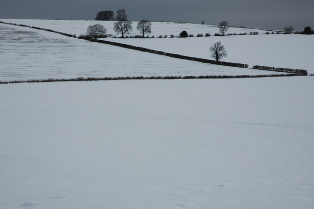 Winter Cotswold landscape