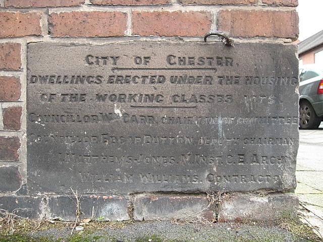 Foundation stone in Walls Avenue