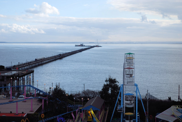 The pier  and Adventure Island.