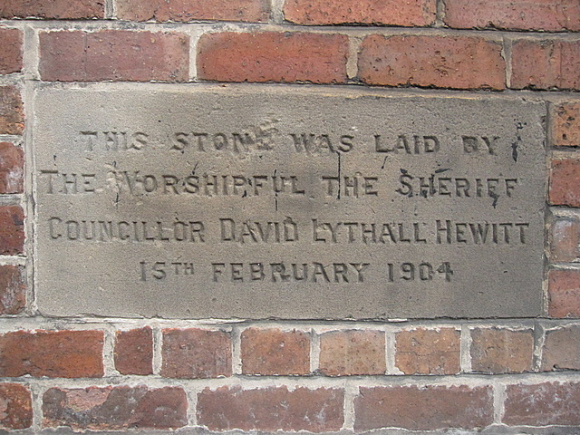 Foundation stone in Walls Avenue #2