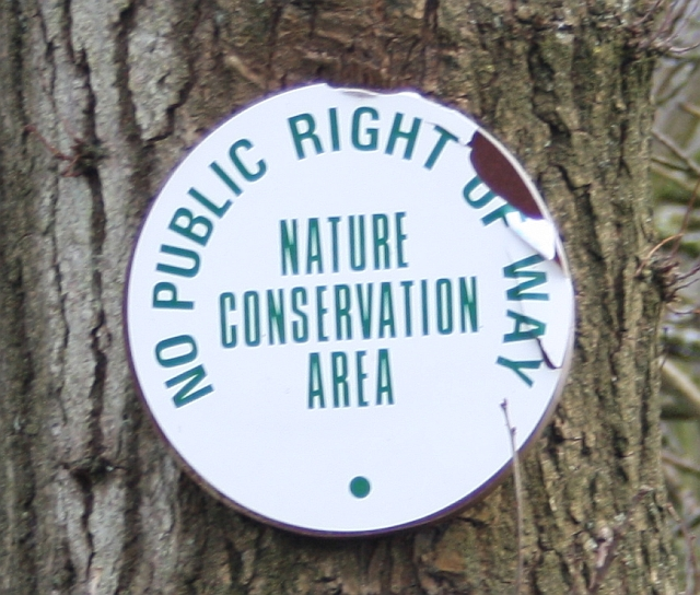 Nature Conservation Area sign, Blackmore Wood