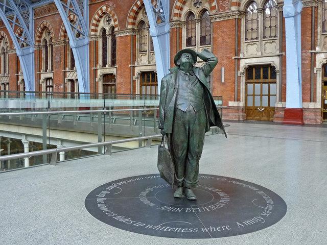 John Betjeman Statue, St Pancras Station, London