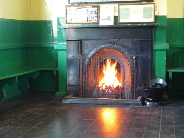 Waiting Room Fireplace at Horsted Keynes Station