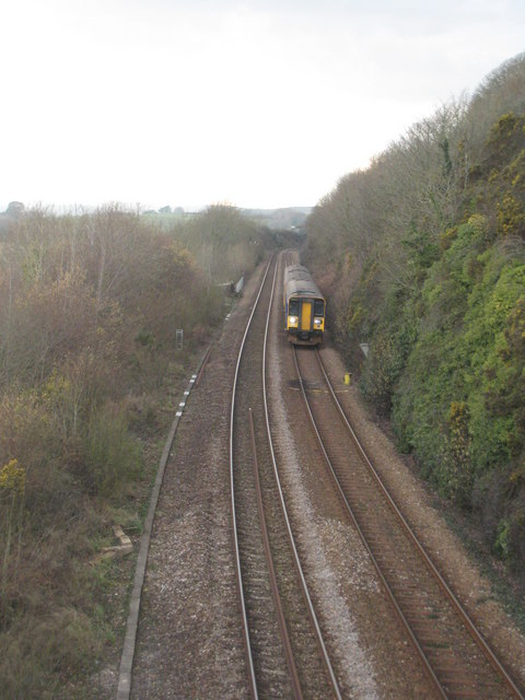 The Penzance - Paddington mainline near Wearde Quay