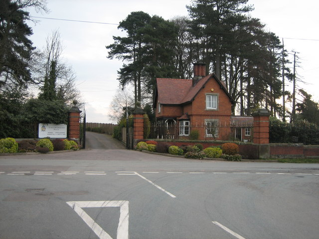 The Main Entrance and Lodge for Cheswardine Hall