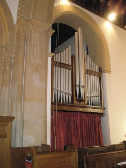 The organ at Christ Church, Portsdown