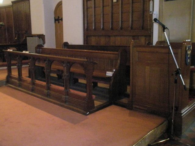Choir stalls at Christ Church, Portsdown