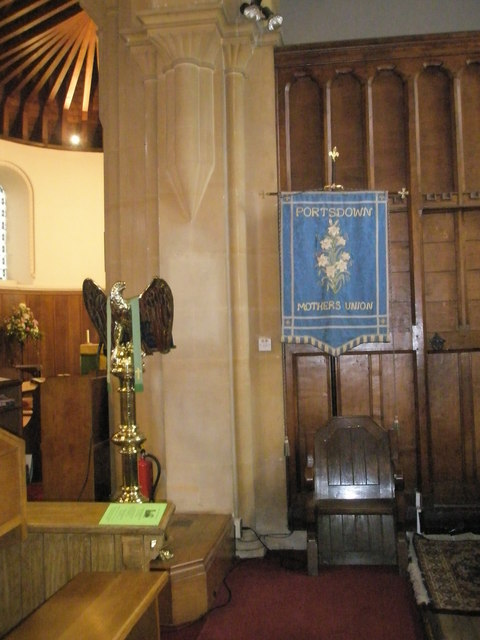 The lectern at Christ Church, Portsdown