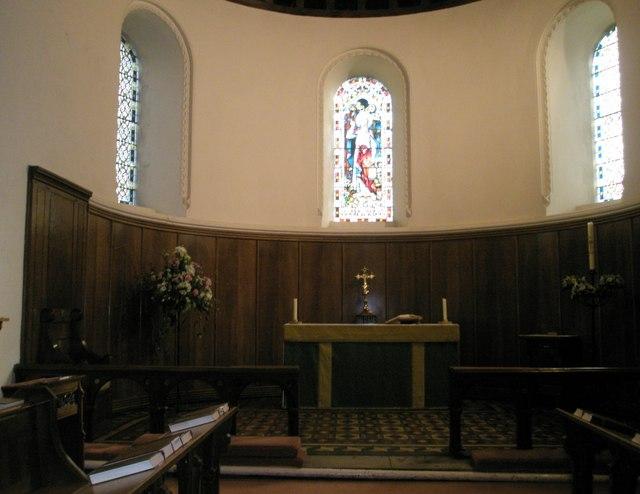 The altar within Christ Church, Portsdown