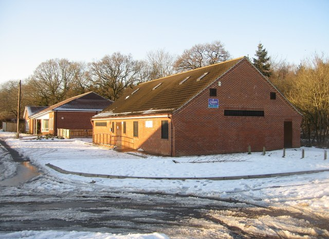 Scout Hut in winter