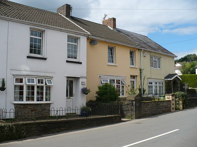 Houses in Church Street, Bedwas