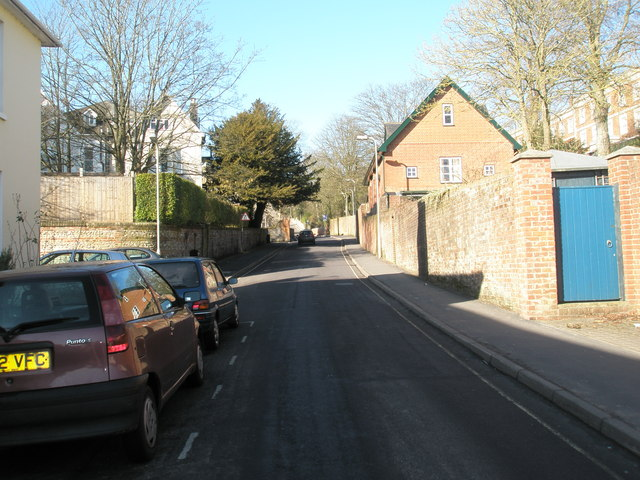 Looking westwards up St James Lane