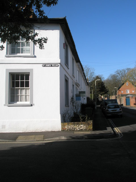 Junction of St James Villas and St James Lane