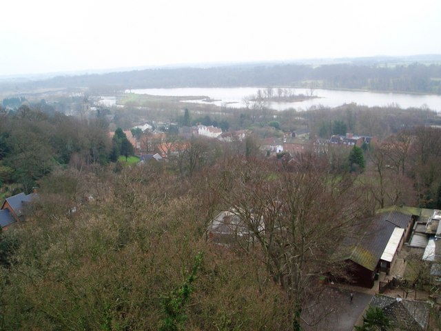 Thorpe St Andrew and Whitlingham Lake from Pinebanks Tower