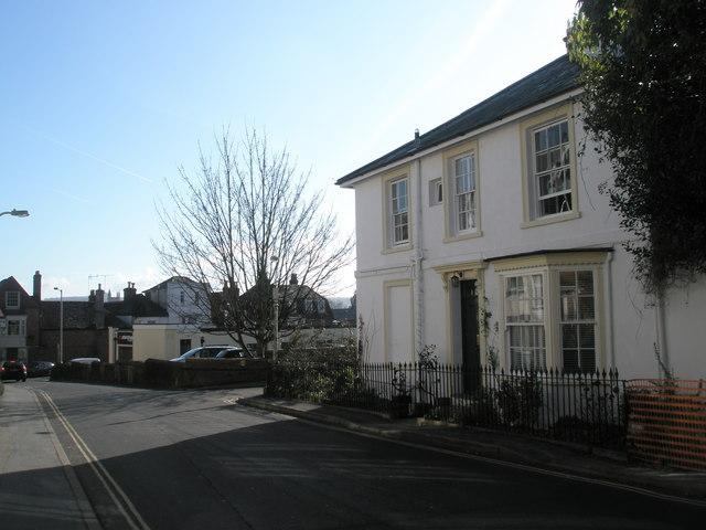 Bottom end of St James Lane