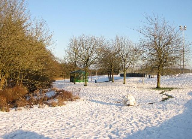 Popley snowscene