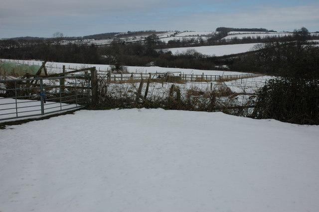 Wintery Cotswold landscape