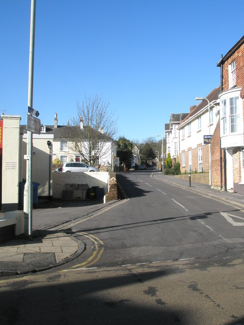 Looking from Southgate Street into St James Lane