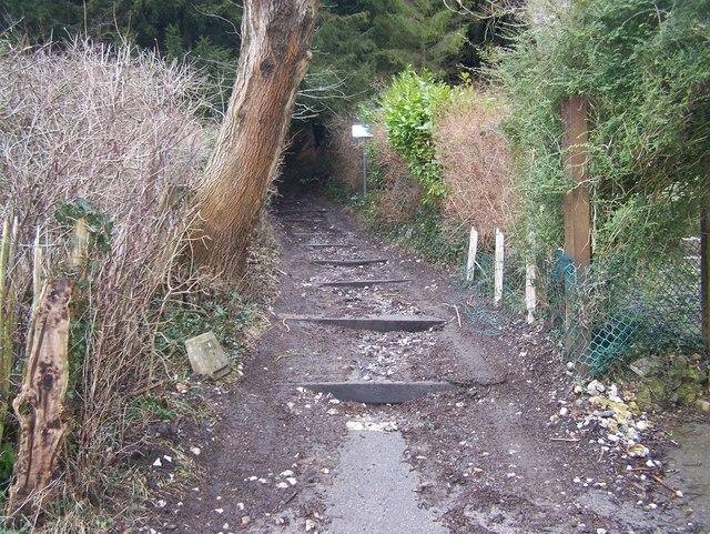 North Down Way climbs hill
