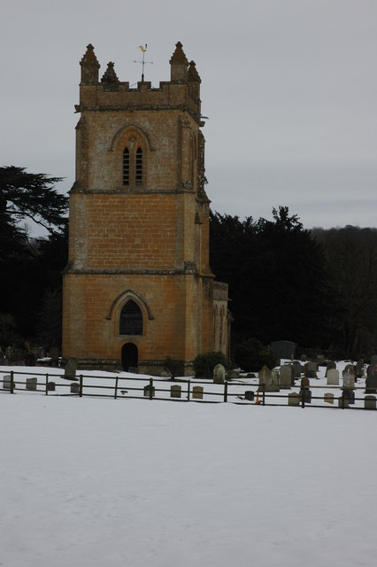 Tower of Temple Guiting Church