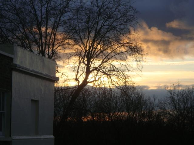 Winter sunset over Regent's Park