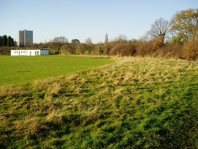 Hanwell Cricket Club ground - showing the surrounding rough