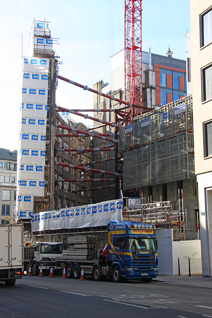 Building Works on Gracechurch Street