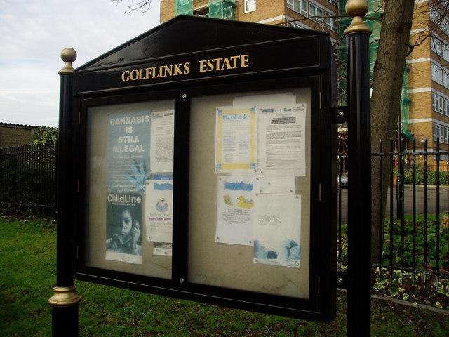 Golf Links Estate sign