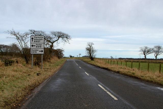 View of Kirkbuddo Crossroads