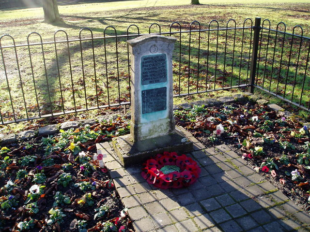 Scouts War Memorial, Churchfields Recreation Ground