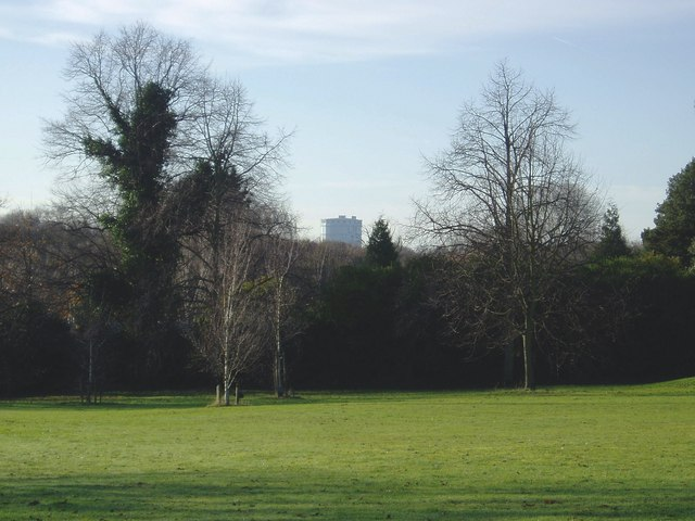 Southall Gasometer from Churchfields Recreation Ground