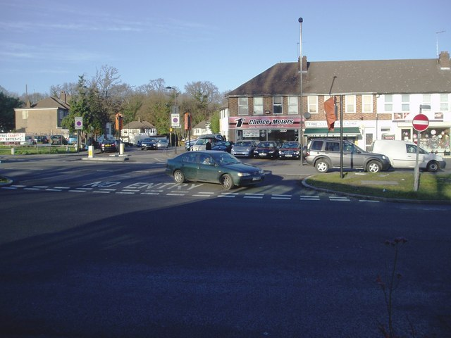 The Uxbridge Road at junction with Wharncliffe Drive