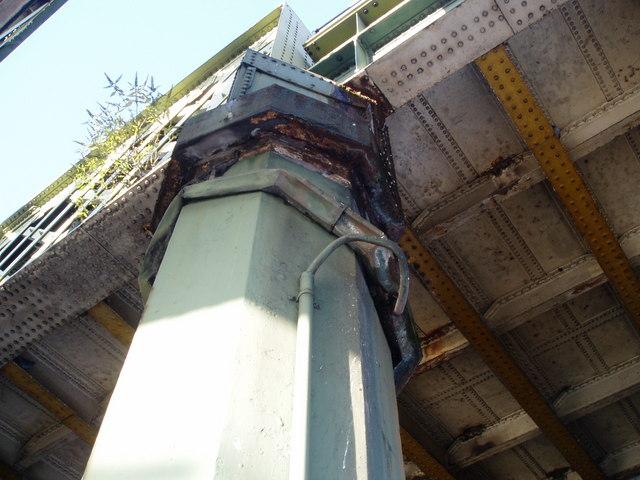 Cast-iron pillar on the Iron Bridge