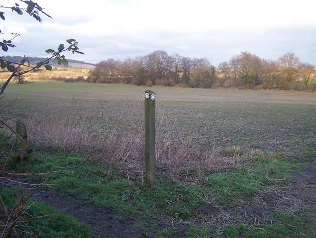 Footpath junction in field, near Chapel Street.