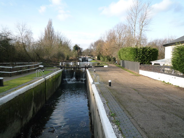 Start of the Hanwell flight of locks