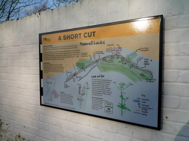 Information board on the Hanwell Locks