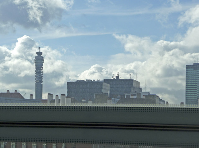 View from St Pancras Station, London