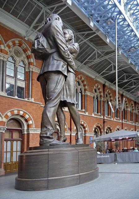 Statue, St Pancras, London