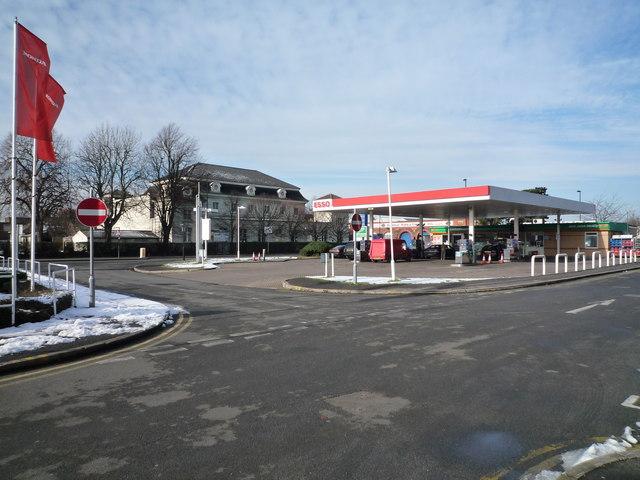 Esso petrol station & Southall Community Centre