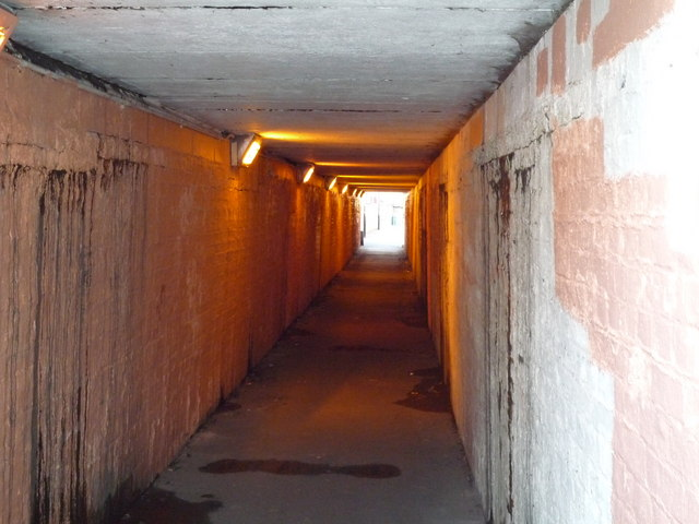 Subway under railway line