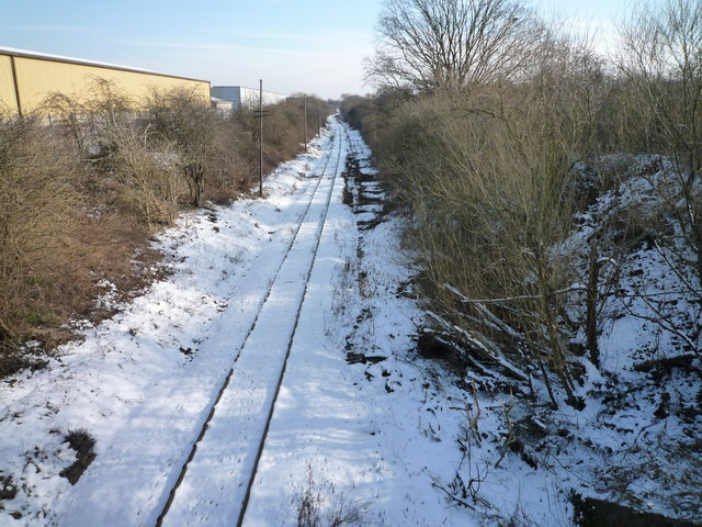 The Brentford Branch Railway looking towards the Three Bridges