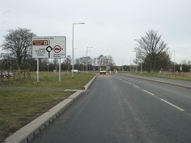 Approaching a new roundabout
